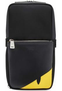 Fendi Bolsa Transversal Bag Bugs - Preto