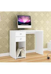 Mesa Para Computador Com 2 Gavetas 412 - Movelbento - Branco