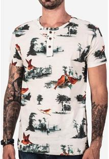 Camisa Hermoso Compadre Henley Birds Masculina - Masculino