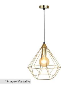 Pendente Turino- Dourada- 30X30Cm- Bivolt- Ppremier