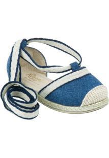 Sandália Com Corda No Solado Klassipé - Feminino-Azul Escuro