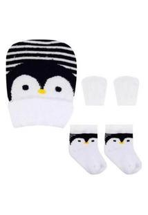 Kit Enxoval Duck Pinguim Branco