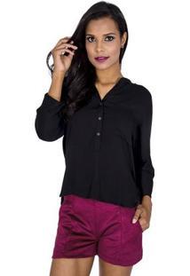 Camisa Básica Handbook - Feminino-Preto