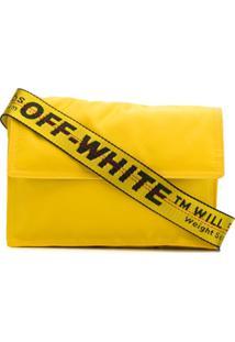 Off-White Bolsa Transversal Binder Clip - Amarelo