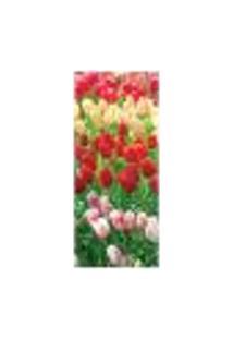 Adesivo Decorativo De Porta - Flores - Tulipas - 1955Cnpt