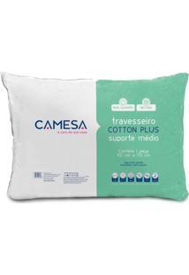 Travesseiro Cotton Plus Ll Branco 50X70 Cm