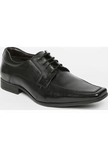 Sapato Social Em Couro Com Pespontos- Pretocns