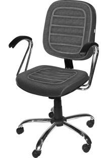 Cadeira Diretor Base Giratã³Ria Cromadagã¡ Cinza - Cinza - Dafiti