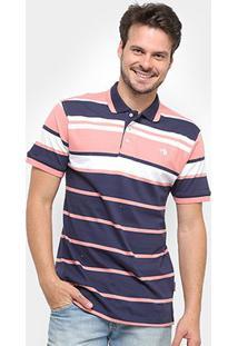 Camisa Polo Gajang Listrada Masculina - Masculino-Marinho