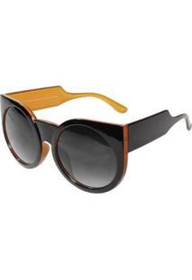 Óculos De Sol Ray Flector Maple Buckingham Vtg558 Co Feminino - Feminino-Preto+Laranja
