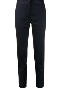 Stella Mccartney Slim-Fit Wool Trousers - Azul