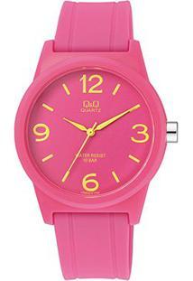 Relógio Qq De Pulso Analógico Vr35J018Y Feminino - Feminino-Rosa