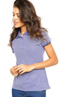 Camisa Polo Anis Lisa Azul