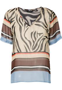 Corporeum Blusa Zebra Estampada - Estampado