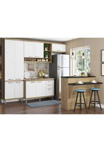 Cozinha Completa Multimã³Veis Com 5 Peã§As SicãLia 5845 Argila/Branco - Bege/Incolor - Dafiti