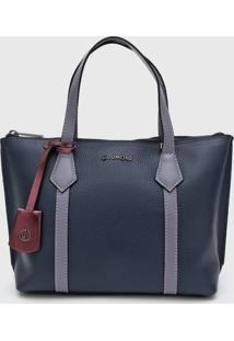 Bolsa Dumond Bicolor Azul - Azul - Feminino - Dafiti