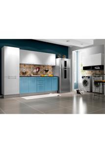Cozinha Completa Play 11 Pt 2 Gv Branca E Azul