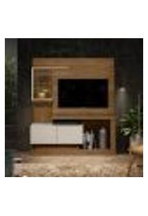 Estante Para Home Theater E Tv Até 50 Polegadas Turin Smart Avelã E Off White