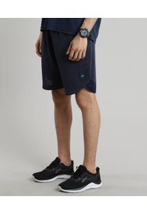 Bermuda Masculina Esportiva Ace Com Recorte Azul Escuro