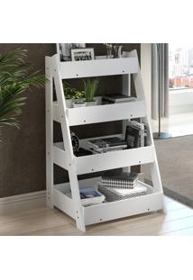 Estante Para Livros Escada 1001 Life Branco - Bentec