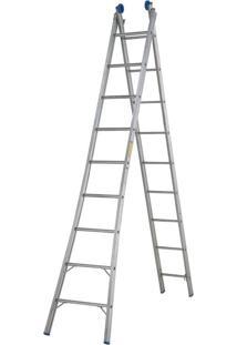 Escada Extensível 2 X 9 Prata