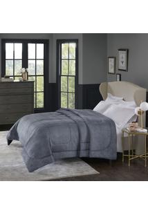 Cobertor Alaska Queen Arquimedes Chumbo - 100% Poliéster - Home Design - Corttex