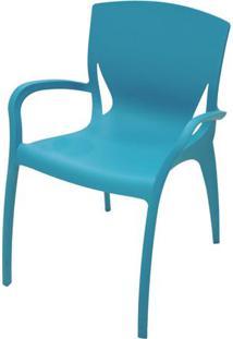 Cadeira Clarice Com Braco Cor Azul - 20741 Sun House