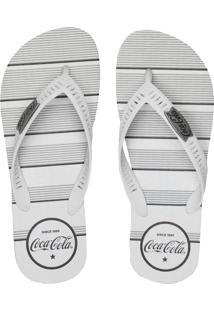 Chinelo Coca Cola Shoes Listrado Cinza