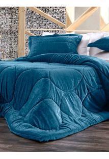Edredom Casal Altenburg Blend Elegance Azul Escuro Un