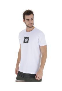 Camiseta Hang Loose Camou - Masculina - Branco