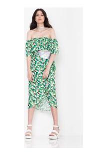Saia Pareoh Iris Branco/Verde