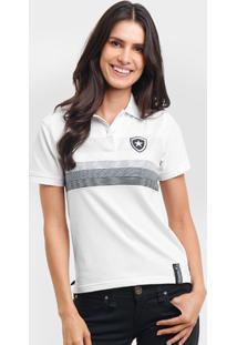 Camisa Polo Feminina Botafogo Fio Tinto - Feminino