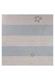 Kit 4 Rolos De Papel De Parede Para Menino Listras Azul E Branco
