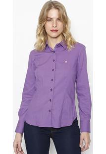 Camisa Slim Fit Com Botãµes- Roxa- Vip Reservavip Reserva