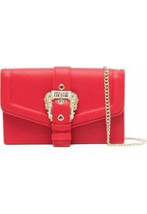 Versace Jeans Couture Buckle-Fastening Shoulder Bag - Vermelho