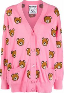 Moschino Teddy Bear Pattern Cardigan - Rosa