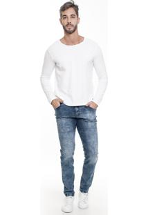 Calça Jeans Lemier Jeans Collection Slim Fit Basic Azul