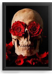 Quadro Decorativo Skull Roses