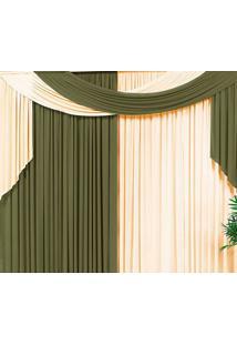 Cortina Casa Conforto Veneza 3M- Verde Taipa