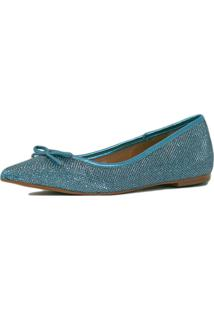 Sapatilha Liszy Glitter Azul