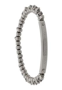 Alexander Mcqueen Bracelete Com Pingente De Caveira - Prateado