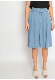 Bermuda Jeans Ampla - Azulenna