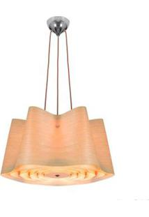 Plafon Wood Para 3 Lâmpadas Madeira Bronzearte