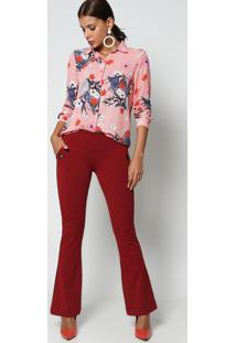 Camisa Floral- Vermelha & Branca- Intensintens