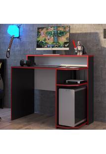 Mesa Gamer Power Preto/Vermelho - Art In Móveis