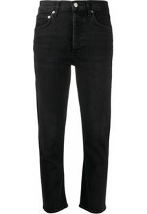 Agolde Calça Jeans Reta Riley - Preto