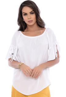 Blusa Ciganinha B'Bonnie Frida Branco