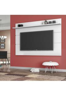 Painel Para Tv 65 Polegadas Vivare Branco Acetinado 180 Cm