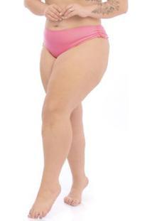 Calcinha Regulável Plus Size Rosa