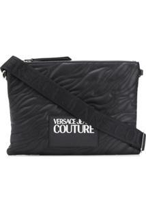 Versace Jeans Couture Clutch Matelassê Com Logo - Preto